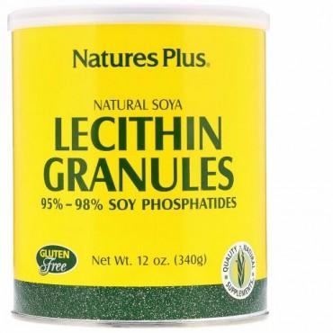 Nature's Plus, レシチン顆粒、 ナチュラル大豆、 12 oz (340 g)