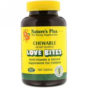 Nature's Plus, Love Bites, Multi-Vitamin & Mineral, Supplement For Children, 180 Tablets