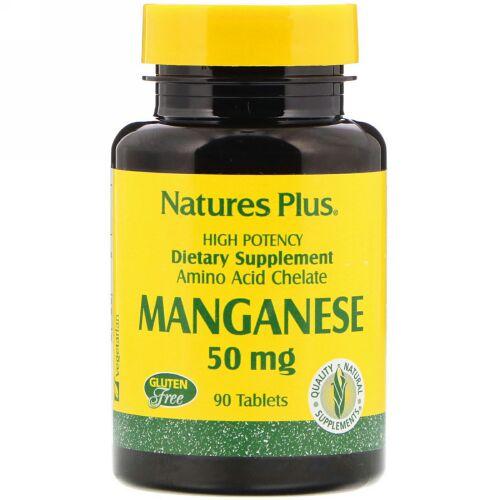 Nature's Plus, マンガン、50 mg、90錠