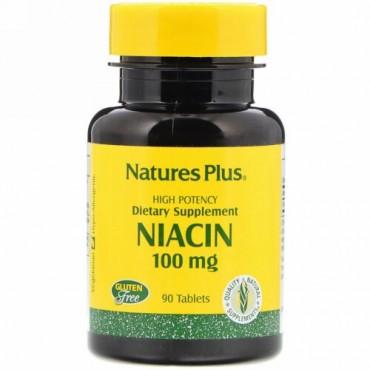 Nature's Plus, ナイアシン、100 mg、90 錠