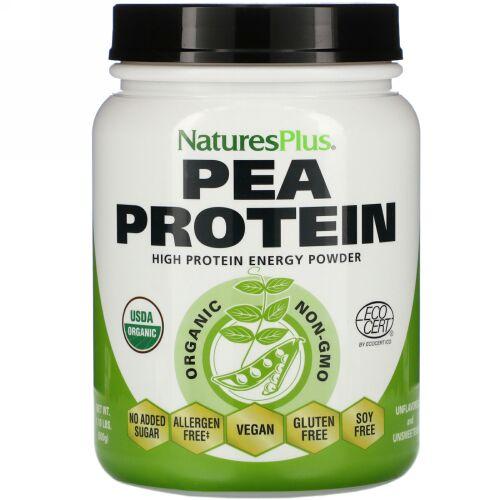 Nature's Plus, 有機エンドウ豆プロテインパウダー、500g