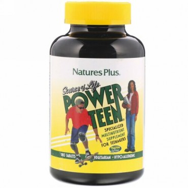 Nature's Plus, ソースオブライフ、 パワーティーン、 180錠