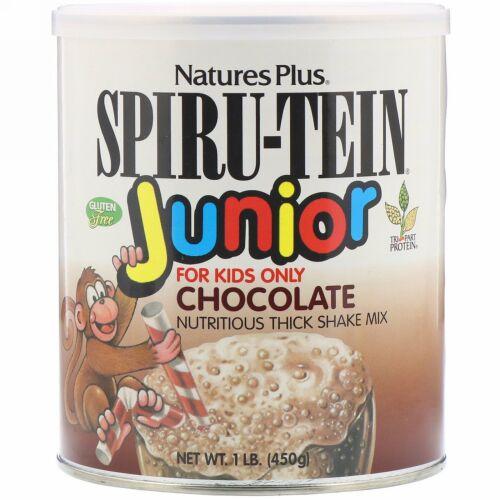 Nature's Plus, Spiru-Tein Junior, Nutritious Thick Shake Mix, Chocolate, 1 lb (450 g)
