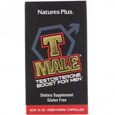 Nature's Plus, T Male(ティーメール)、男性用テストステロンブースト、植物性カプセル60粒
