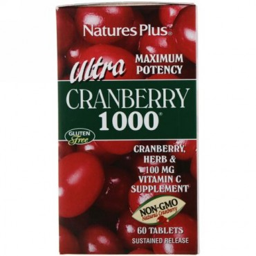 Nature's Plus, ウルトラクランベリー1000, 60錠
