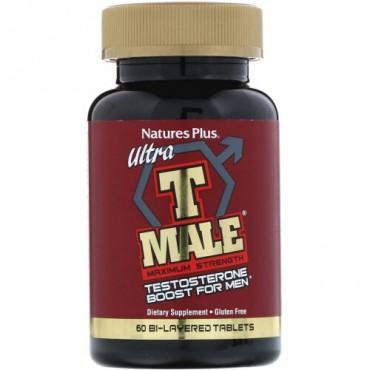 Nature's Plus, ウルトラ T-男性, 男性用テストステロン増進, 最大の強さ, 二層錠 60錠