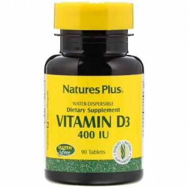 Nature's Plus, Vitamin D3, 400 IU, 90 Tablets