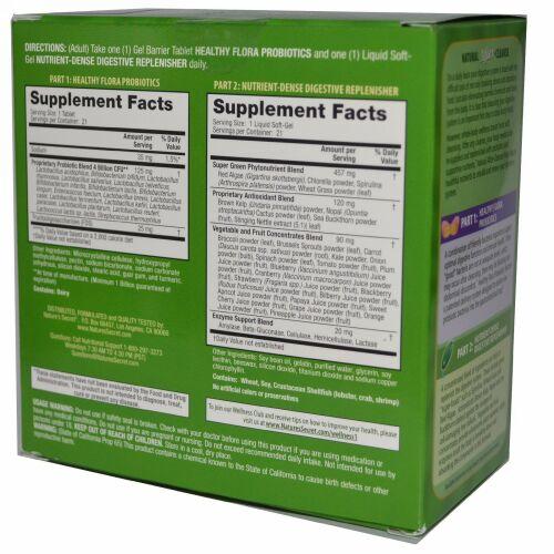 Nature's Secret, Natural After-Cleanse, Total-Body Renewal, 2 Part Program, 21 Gel Barrier Tablets / 21 Liquid Soft-Gels (Discontinued Item)