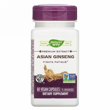 Nature's Way, Asian Ginseng, 60 Vegan Capsules