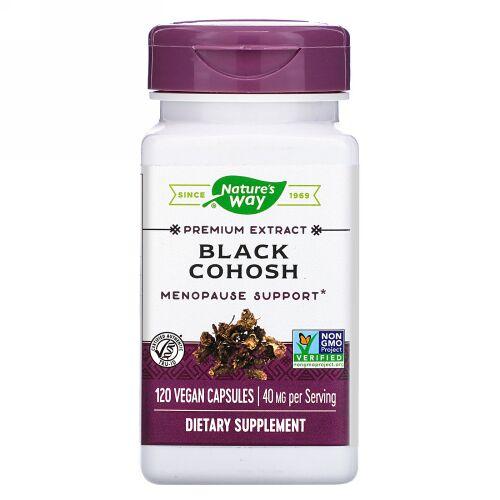 Nature's Way, Black Cohosh, 40 mg, 120 Vegan Capsules