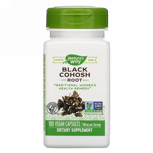 Nature's Way, Black Cohosh Root, 540 mg, 100 Vegan Capsules