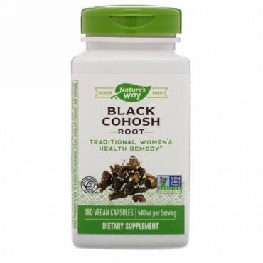 Nature's Way, Black Cohosh Root, 540 mg, 180 Vegan Capsules