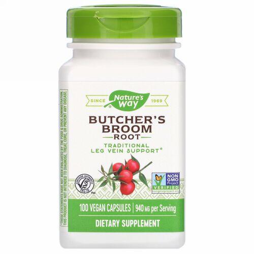 Nature's Way, Butcher's Broom Root, 940 mg, 100 Vegan Capsules