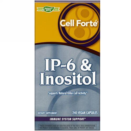 Nature's Way, Cell Forté(セルフォーテ)、IP-6&イノシトール、ビーガンカプセル240粒