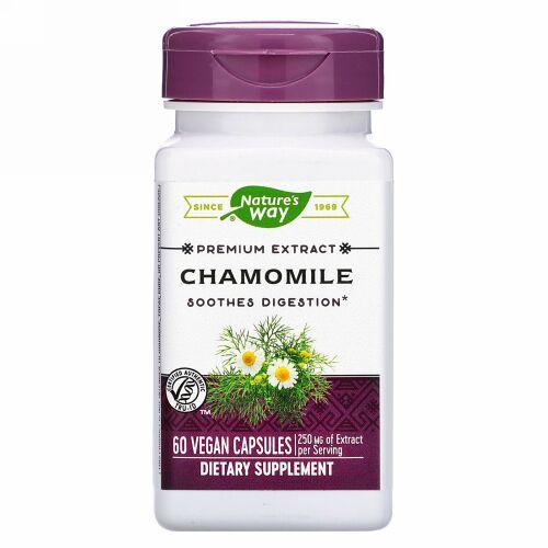Nature's Way, Chamomile, 250 mg, 60 Vegan Capsules