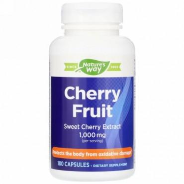 Nature's Way, Cherry Fruit, Sweet Cherry Extract, 1,000 mg, 180 Capsules