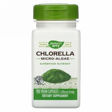 Nature's Way, Chlorella, Micro-Algae, 1,230 mg, 100 Vegan Capsules