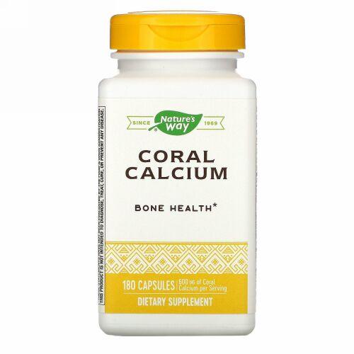 Nature's Way, Coral Calcium, 600 mg, 180 Capsules