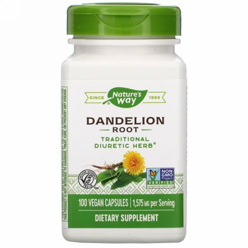 Nature's Way, Dandelion Root, 1,575 mg, 100 Vegan Capsules
