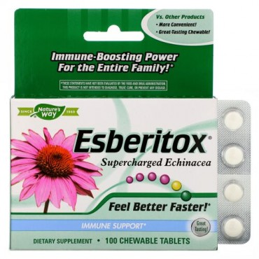 Nature's Way, Esberitox, Supercharged Echinacea, 100 Chewable Tablets