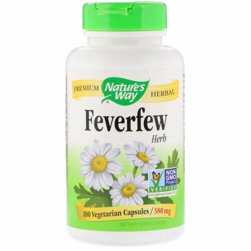 Nature's Way, フィーバーフューハーブ、 380 mg、 180植物性カプセル