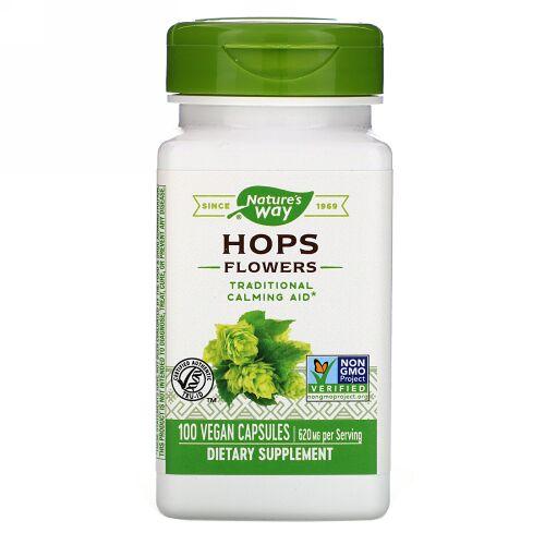 Nature's Way, Hops Flowers, 620 mg, 100 Vegan Capsules
