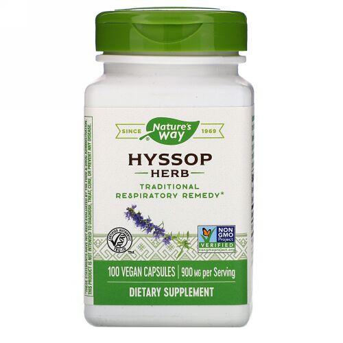 Nature's Way, Hyssop Herb, 900 mg, 100 Vegan Capsules