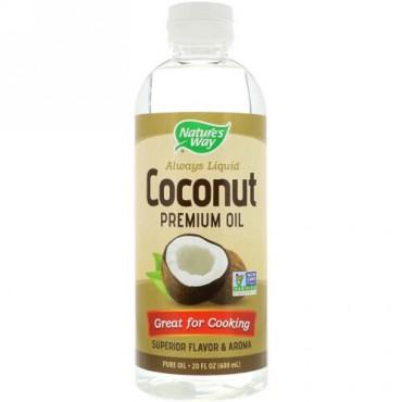 Nature's Way, Liquid Coconut Premium Oil, 20 fl oz (600 ml) (Discontinued Item)