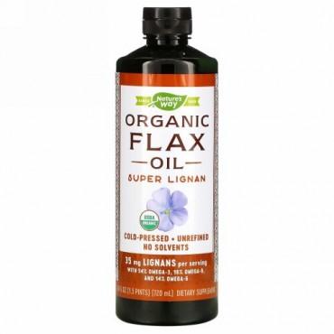 Nature's Way, Organic Flax Oil, Super Lignan, 24 fl oz (720 ml)