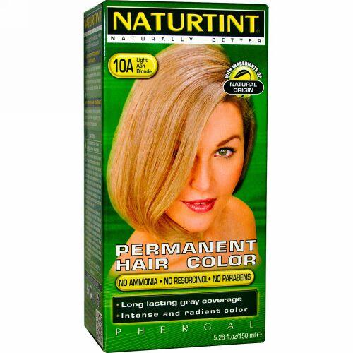 Naturtint, パーマネントヘアカラー、10A ライトアッシュブロンド、5.28 fl oz (170 ml) (Discontinued Item)