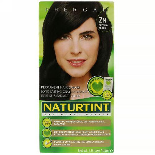 Naturtint, パーマネントヘアカラー、2N ブラウン-ブラック、165 ml(5.6 fl oz)