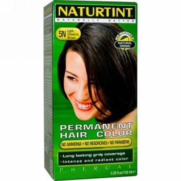 Naturtint, パーマネントヘアカラー、5Nライトチェスナットブラウン、150ml(5.28fl oz)