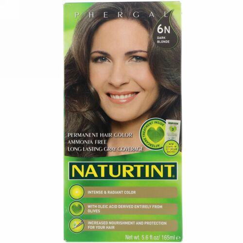 Naturtint, パーマネント ヘア カラー, 6N ダークブロンド, 5.6 fl oz (165 ml)