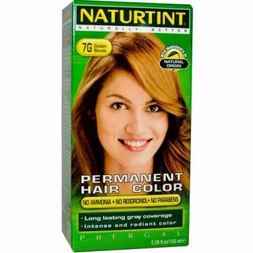Naturtint, パーマネントヘアカラー、 7G ゴールデンブロンド、 5.28 fl oz (150 ml) (Discontinued Item)