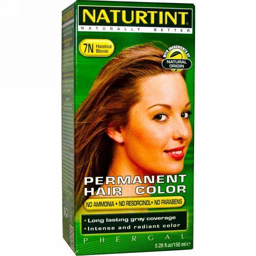 Naturtint, パーマネントヘアカラー、 7N ヘーゼルナッツブロンド、 5.28 fl oz (150 ml)