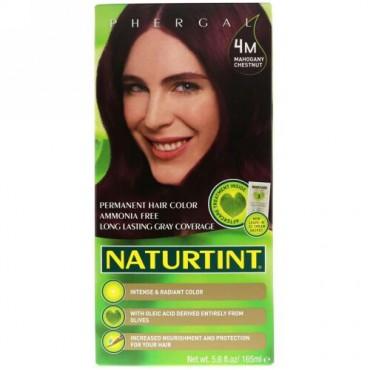 Naturtint, Permanent Hair Colorant, 4M Mahogany Chestnut, 5.6 fl oz (165 ml) (Discontinued Item)