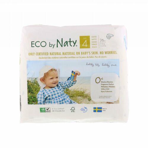 Naty, 敏感肌用おむつ、サイズ 4, 15~40 lbs (7-18 kg), 26枚入り