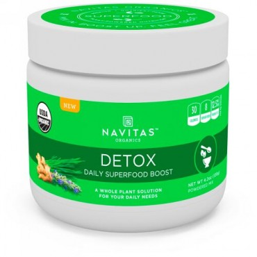 Navitas Organics, 解毒、デイリー・スーパーフードブースト、4.2 oz (120 g) (Discontinued Item)