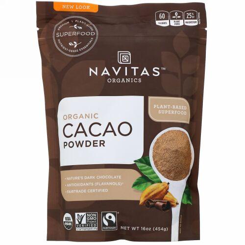 Navitas Organics, オーガニックカカオパウダー、454 g(16 oz)