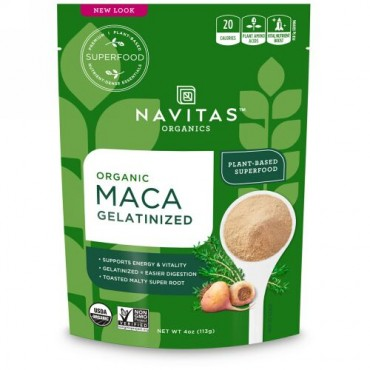 Navitas Organics, オーガニック、マカ、 ゼラチン化、4 oz (113 g)