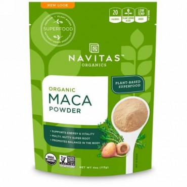 Navitas Organics, オーガニックマカパウダー、4オンス(113 g)