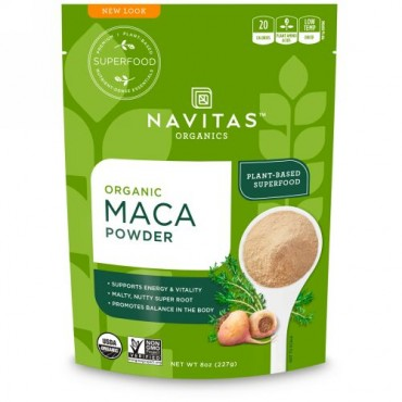 Navitas Organics, オーガニック・マカパウダー、8 oz (227 g) (Discontinued Item)