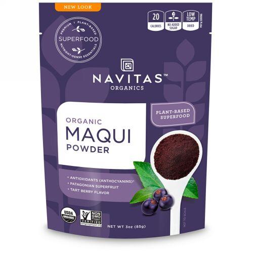 Navitas Organics, オーガニックマキパウダー、タルトベリー、3 oz (85 g)