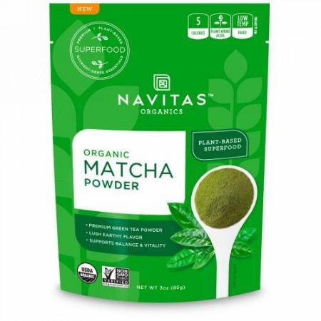 Navitas Organics, オーガニック抹茶パウダー、3 oz (85 g)