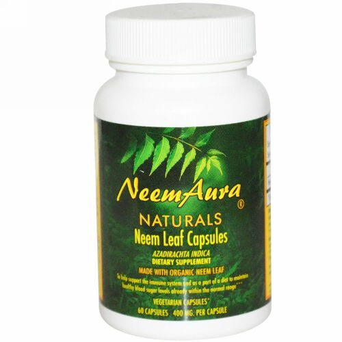 NeemAura, ニーム リーフ カプセル、400 mg、60カプセル (Discontinued Item)