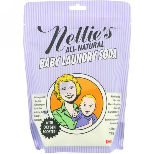 Nellie's, オールナチュラル、ベビーランドリーソーダ、1.6 lbs (726 g)