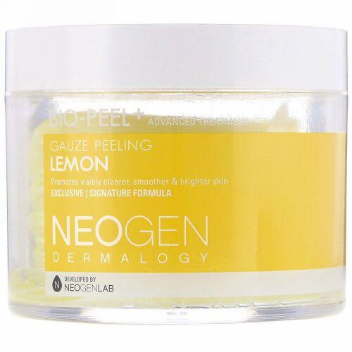 Neogen, バイオピール+、ガーゼピーリング、レモン、30回分