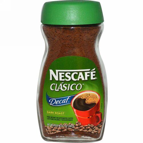 Nescafé, Clasico、ピュア・インスタント・デカフェ・コーヒー、デカフェ、ダークロースト、 7 オンス(200 g)