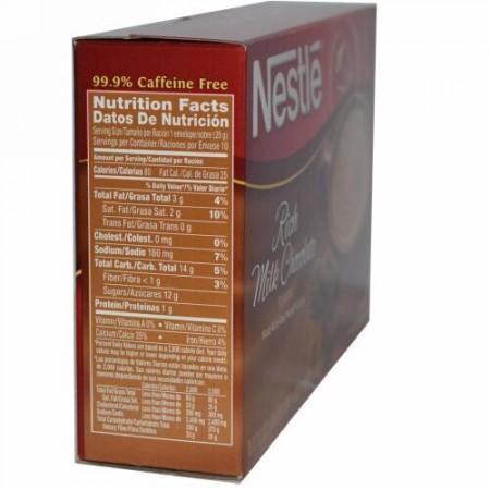 Nestle Hot Cocoa Mix, Rich Milk Chocolate Flavor, 10 Envelopes, 0.71 oz (20.2 g) Each (Discontinued Item)