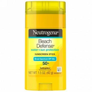 Neutrogena, ビーチディフェンス、日焼け止めスティック、SPF 50+、1.5 oz (42 g)